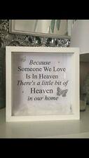 Perché qualcuno che amiamo il cielo è IN PARADISO CORNICE REGALO * * * familiari. prezzo speciale