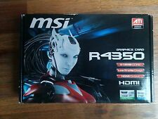 Brand New MSI Micro-star International Graphics Card R4350 512MB DDR2 HDMI ready