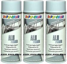 3x400ml Lackspray Alu Primer Untergrund Haftgrund Grundirung für Aluminium Grau