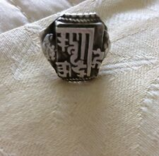Islamic Mens Vintage Sterling Silver Ring Uk Size P