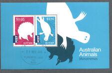 Australia-Monotremes fine used cto min sheet 2016