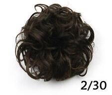 Women Hair Extension Ribbon Ponytail Clip In Hair Bun Curly Hairpiece Scrunchie