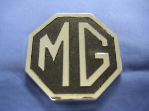 MGB ROADSTER BOOT LID   METAL OCTAGON BADGE 1974 TO 1980 CHA545 TRUNK  ***OD20