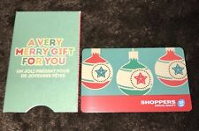 "SHOPPERS DRUG MART CANADA GIFT CARD ""CHRISTMAS ORNAMENTS"" NO VALUE NEW XMAS 2015"