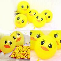 10pcs 12'' Yellow Duck Ballons Birthday Balloons Kids Children Party Supplies
