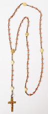 Chapelet ancien corail et vermeil rosaire rosary coral silver cross rosario