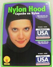 Adult Costume Black Stretchy Nylon Hood Head Wear Medieval Warrior Helmet Cap