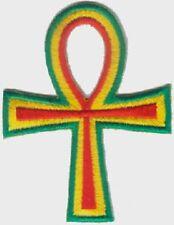 "Ankh Rasta Reggae (2) Embroidered Patches 3"" x 2"""