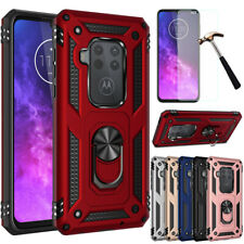 For Motorola Moto One Action/Zoom/Hyper Case Shockproof Armor Ring Stand Cover