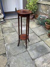 More details for edwardian mahogany two tier torchere or plant stand