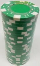 Poker Chips (25) Green Dice Mold 11.5 gram Clay Composite FREE SHIPPING *