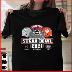 Ohio State Buckeyes Clemson Tigers 2021 CFP Sugar Bowl Game Dueling T-Shirt