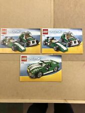 Lego 6743 Creator 3in1 Instructions Racing Car. No Bricks
