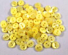 Knopf Knöpfe  100 stück gelb    knöpfe 10 mm klein   #128#