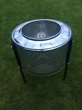 Woodburner fire pit upcycled washing machine drum ( Stainless Steel )