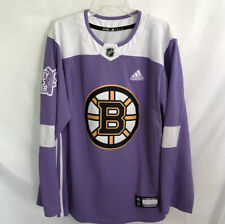 Boston Bruins Adidas Hockey Fights Cancer Authentic Jersey Adult Large size 52