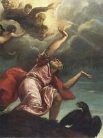 TITIAN ITALIAN SAINT JOHN EVANGELIST PATMOS OLD ART PAINTING POSTER BB6466A