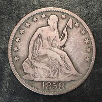 1858-O Seated Liberty Half Dollar - High Quality Scans #F303