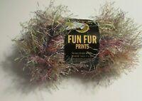 NEW Lion Brand Fun Fur Confetti Pink Rainbow Polyester Yarn 50 g Turkey 206
