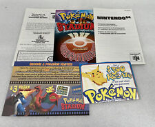 Pokemon Stadium N64 Inserts Reserved Two Pokémon Inserts (No Game Box Or Manual)