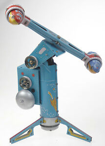 Tin Toy Rocket Ride very Unusual Tin Toy from Old Stock Out of Production