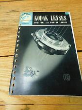 Vintage 1946 & 1948 Kodak Lenses Shutters & Portra Lenses Kodak Data Book