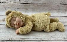 Anne Geddes Sleeping 💤 Baby Caramel � Bear, Bean Filled Plush Teddy 9� Brown