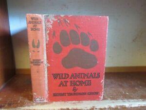 Old WILD ANIMALS AT HOME Book ERNEST THOMPSON SETON WILDLIFE FOX COYOTE BEAR ++