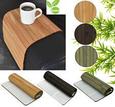 Sofatablett Bambus Tablett Flexablage Ablage Armlehnen Sofa Couch Armlehne Holz