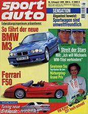 sport auto 8/95 1995 BMW M3 Brabus E 3.6 Elia Clio Ferrari F355 Spider Venturi