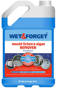 Wet And Forget Mould Algae & Lichen Moss Dirt Removal 5L Concentrate Outdoor New