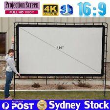 "120"" 16:9 4K Portable Projector Screen Indoor Outdoor Cinema Theatre Projection"