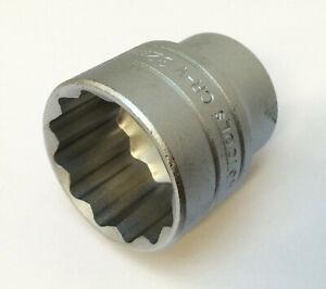 "Teng 32mm 12 pt bi-hex 1/2"" drive shallow satin socket tool M120532-C inc VAT"