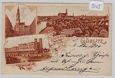 1729, MB Litho Görlitz mit Bahnhof gelaufen 1899 !