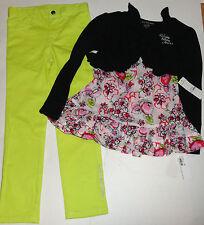 Calvin Klein 6 Años Niña Disfraz 3 Piezas Set BOLERO, Top Jeans Leggings Set