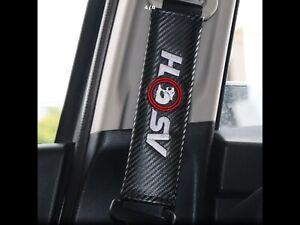 Car Seat Belt Covers HSV Carbon Easy Clean Pads  2x VT VX VY VZ VE V6 V8  R8 SS