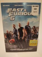 FAST & FURIOUS 6 DVD Stars Vin Diesel Paul Walker Dwayne Johnson