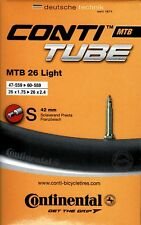 "Continental MTB Light 26"" 26 Zoll SV 42 mm 125 g Schlauch Conti Fahrrad tune"