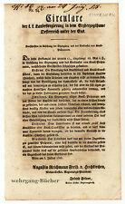 Circular, Verordnung, Juli 1828, Vorschriften für Knall-Präparate