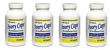 4 IVORY CAPS Glutathione Skin Whitening Max BioActive 1500MG 240 Caps Exp06/2020