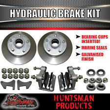 HYDRAULIC DISC BRAKE KIT.TRAILER  BOAT CARAVAN. GALVANISED DISCS AND CALIPERS..