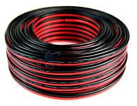 100' FT 14 Gauge Red Black Stranded 2 Conductor Speaker Wire Car Home Audio