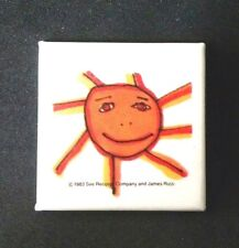 Tom Tom Club 1983 Close To The Bone Cover Art 'Sun' / Talking Heads Button Pin
