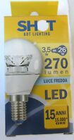 Lampadina Sfera LED SHOT 3.4W E14 fascio 240° ELD3003C1 nuovo imballato