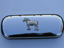 Shire Heavy horse cart  brand new chrome glasses case make a great gift Xmas