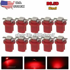 10x Red B8.5D B8.5 LED Gauge Speedo Dashboard Dash Panel Light dashboard Bulbs