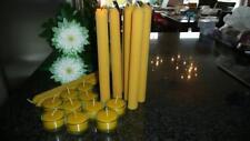 Tafelkerzen und Teelichter in Gläsern 100% Bienenwachs Kerzen Leuchterkerzen