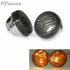 Smoke Motorcycle Turn Signal Lights Lens Cover Lid For Suzuki Boulevard M50 C50