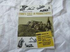 1959 Ford backhoe tractor loader industrial line catalog brochure