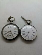 LOT 2 GOUSSET POCKET WATCH VICTORIA  FERAL HORLOGER A NAUCELLE FRANCE VINTAGE